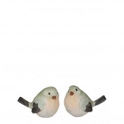 Fugle 2 ass. grå-grøn