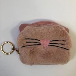 Kattepung med pels, rosa
