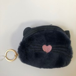 Kattepung med pels, navy