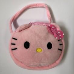 Plystaske med ansigt, lyserød kat