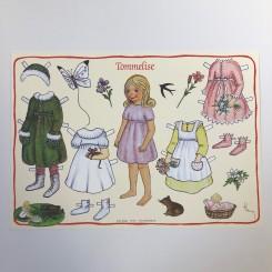 Påklædningsdukke Tommelise, A4