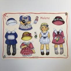 Påklædningsdukke Malene, A4