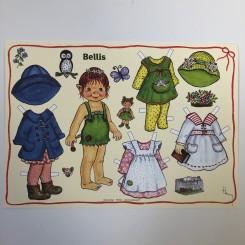 Påklædningsdukke Bellis, A4
