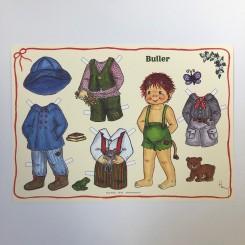 Påklædningsdukke Buller, A4