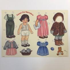 Påklædningsdukke Karen, A4