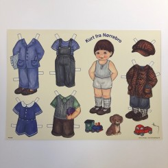 Påklædningsdukke Kurt, A4