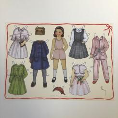 Påklædningsdukke Pige, A4