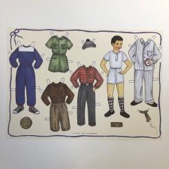 Påklædningsdukke Dreng, A4
