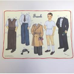 Påklædningsdukke Frank, A3