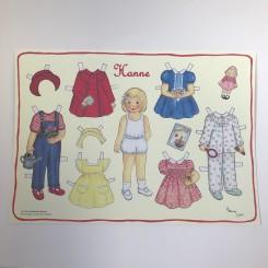 Påklædningsdukke Hanne, A3