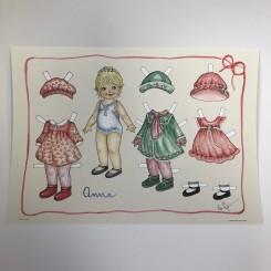 Påklædningsdukke Anna, A3