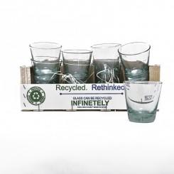 Vandglas af genbrugsglas