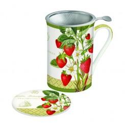 Botanique krus med tesi, jordbær