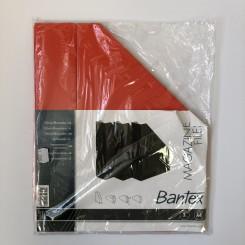 Bantex tidsskriftholder pap 3 stk., rød