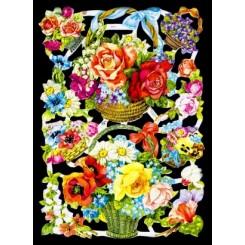 Glansbilleder blomster kurve/ 3-7111
