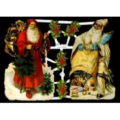 Glansbilleder julemænd / 3-7153