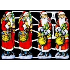 Glansbilleder julemænd 4 stk. / 3-7040