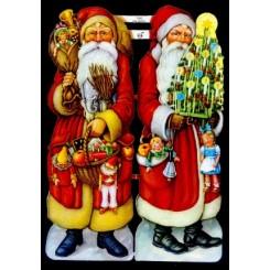 Glansbilleder julemænd 2 stk. / 3-7050