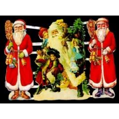 Glansbilleder julemænd / 3-7170
