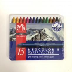 Neocolor II, vandopløselig, 15 farver