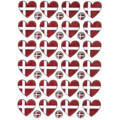 Dannebrogsflag hjerter