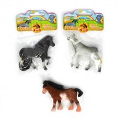 Hest med pels 6,5 cm