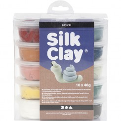 Silk Clay®, ass. farver, støvede farver, 10x40g