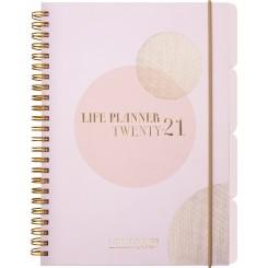 Ugekalender Life Planner Pink A5, 2020/2021