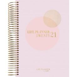 Dagkalender Life Planner Pink A6, 2020/2021