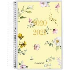 Mini studiekalender spiralryg m. 4 illustrationer, 2020/2021