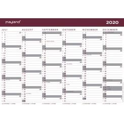 Vægkalender A4 2020/2021