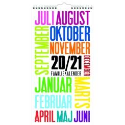 Familiekalender 6 kolonner TrendArt, 2020/2021