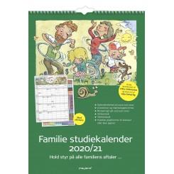 Familiekalender m. klistermærker 6 kolonner, 2020/2021