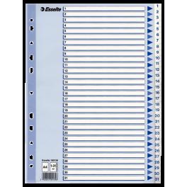 Esselte Register 1-31 A4, hvid