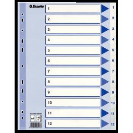 Esselte Register 1-12 A4, hvid