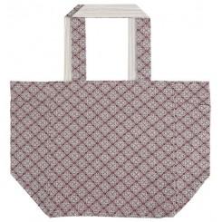 Taske rosa/beige farver