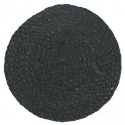 Bordskåner rund sort jute, 25 cm