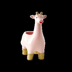 Keramik Urtepotte giraf