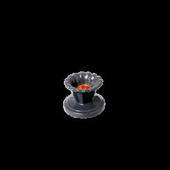 Keramik Lysestage mørke grå