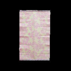 Gulvtæppe, pink & creme