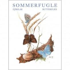 SOMMERFUGLE - 8 forskellige dobbeltkort