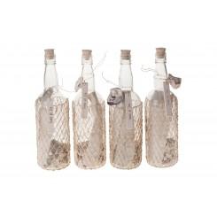 Flaskepost SEASIDE m/ skaller og brev
