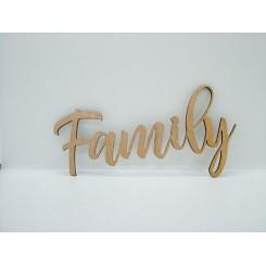 Træ skilt - Family