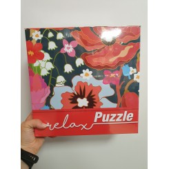 Relax puzzle 1000 brikker, blomster
