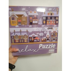 Relax puzzle 1000 brikker, huse