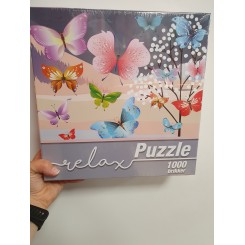 Relax puzzle 1000 brikker, sommerfugle