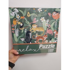 Relax puzzle 1000 brikker, jungle