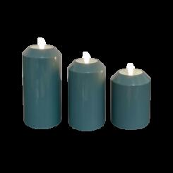 Petroleumsgrøn Udendørs Led lys Ø7,5 cm - sæt af 3 stk