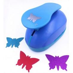 Punch Sommerfugl, blå, 7,5 cm