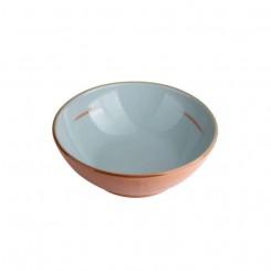 Terracotta skål Ø18, Aquamarin